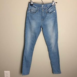 7 For All Mankind Ankle Skinny Jeans Size 24